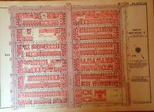 1955 HARLEM 139TH-145TH STREET MANHATTAN NYC G.W. BROMLEY PLAT ATLAS MAP 12 X17