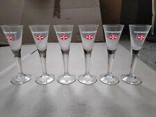 Stamper Malteser Kreuz Glas Gläser Aquavitglas 2cl