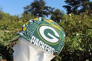 Cycling cap NFL GREEN PACKERS  HANDMADE IN USA  one size 100% COTTON