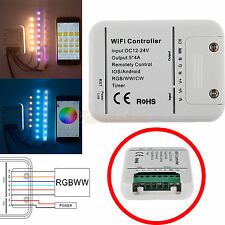 Wireless Wifi RGB LED Strip Light Controller For IOS Android Phones DC 12V/24V