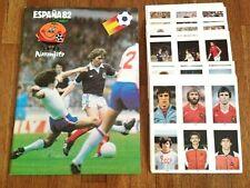 ESPANA 82 Empty Album + Complete Sticker Set wc wm world cup card 1982 no panini
