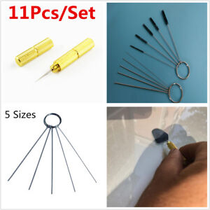 11Pcs Windshield Spray Wiper Nozzle Washer Cleaning Car Jet Needle Brush Tools
