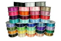"Thin DOUBLE FACE Silky SATIN Ribbon CHOOSE Size 1/8"" or 1/16"", Color & Length"