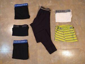 GUC lot of 6 men's UNDER ARMOUR compression shorts & pants - size LARGE