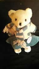 Vintage Blue Jean Teddy Blossom Bear with Skaters Woltz Outfit and Skates