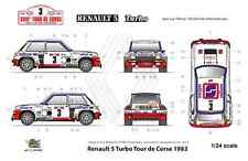 [FFSMC Productions] Decals 1/24 Renault 5 Turbo Tour de Corse 1982