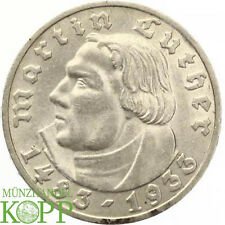 AA2938) J.353 DRITTES REICH 5 Reichsmark 1933 D - Martin Luther