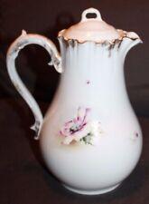 Antique CHIC Coffee Pot SHABBY Flowers CARLSBAD Austria