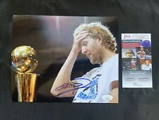 DIRK NOWITZKI Autographed DALLAS MAVERICKS 8x10 w/JSA AUTHENTICATION