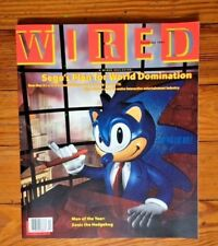 Wired Magazine 1.6 6th Issue Dec 1993 Sega Sonic the Hedgehog cover