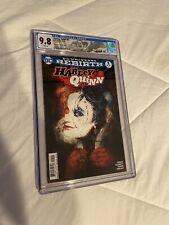 Harley Quinn #1 DC Rebirth 9.8 CGC Bill Sienkiewicz Variant HARLEY QUINN LABEL
