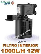FILTRO INTERIOR 1000L/H para ACUARIO con FOAMEX 12W CONSUMO Tortuguera  Gambario