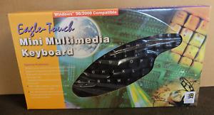 Eagle Touch Mini Multimedia Keyboard - PS/2, Windows 98/2000 Compatible - Black
