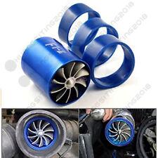 F1-Z Double Fan Air Intake Supercharger Turbo Turbine Fuel Gas Saver Fan Blue