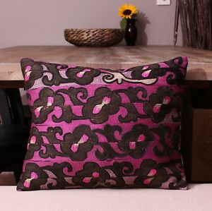 """13.98"""" x 16.73"""" Pillow Cover Suzani Pillow Vintage FAST Shipment With UPS 11412"""