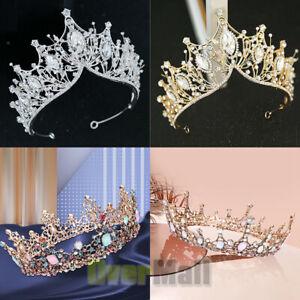 Baroque Pageant Queen Bridal Wedding Prom Tiara Crown Hair Accessories Headband