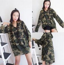 Hot Sale! Korean Girl Ulzzang Long Sleeve Camouflage Hoodie Boy Friend Coat