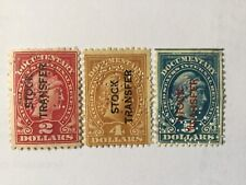 USA $2, $4, $5 Overprints Stock Transfer Perfin Old Stamps
