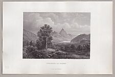 Schweiz, Goldau, Schwyz - Original Stahlstich 1862/63 ****