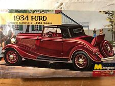 Vintage Monogram 1934 Ford Coupe Cabriolet 1:24 Model Box Junk Yard Parts
