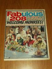 FABULOUS 208 MUSIC MAGAZINE 1ST JULY 1967 MONKEES MICKY DOLENZ BEATLES LULU
