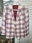 Ariston Napoli Bespoke Handmade Wool & Cashmere Plaid Blazer Jacket Sport Coat  photo
