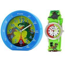 Ravel Children's Girl Time Teacher Dinosaurs Alarm Clock + Wristwatch