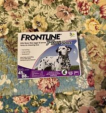 Frontline Plus for Large Dogs Flea and Tick 45-88 Lbs  - 3 Doses - Genuine EPA
