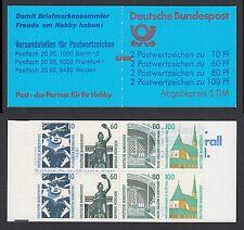 Bund Markenheftchen 26 a ZB ** Sehenswürdigkeiten 1989 mit Zählbalken