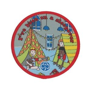 Rainbows I've Been On A Sleepover Woven Badge. OFFICIAL SUPPLIER.