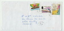 Madagascar Lettre 1998 surcharge locale Train Honda voiture Chat overprint