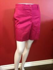 KIM ROGERS Women's Relaxed Fit Wild Berry Shannon Walking Shorts - Size 10 - NWT