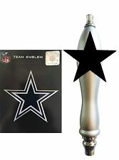 Dallas Cowboys Football Emblem and Beer Tap Handle for Kegerator Kit
