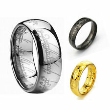 Lord of the Rings The One Ring Lotr Stainless Steel Fashion Men's Ring Size 6-12