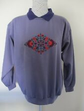Para vintage top new without tags. Size M. Colour Grape. Embroidered floral patt