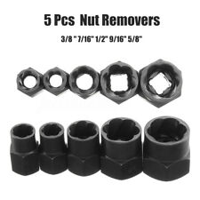 5Pcs 10-16mm Rounded Bolt Grip Nut Remover Screwdriver Stud Extractor Socket Set