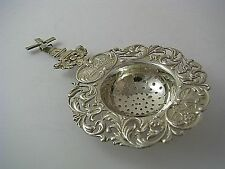 DUTCH SOLID SILVER TEA STRAINER SERVING SPOON WINDMILL Holland Netherlands c1928