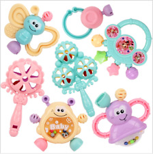 7 Stück / Set Baby Fun Rassel Beißring Spielzeug Kleinkind Spielzeug//!