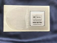 Old AA tax disc holder unused New Old Stock With Leaflet