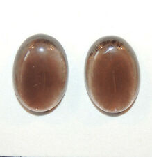 Smoky Quartz Cabochons 13x18mm with 6mm dome Set of 2 (10449)