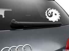 Yin Yang Dragon Car Sticker Window Styling Decal, White