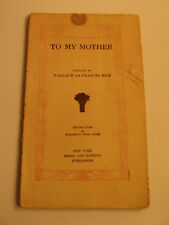 """To My Mother"" Poems and Quotations Book"