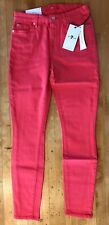 New 7 For All Mankind Super Skinny Jeans Womens Sz 25x28 Salmon Slim Ankle Seven