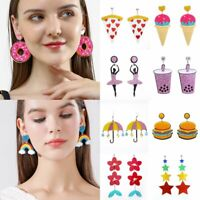 Fashion Women Acrylic Geometric Resin Drop Dangle Stud Earrings Party Jewelry