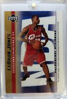 2003 03-04 Upper Deck Phenomenal Beginning Gold LeBron James Rookie RC #15, Cavs