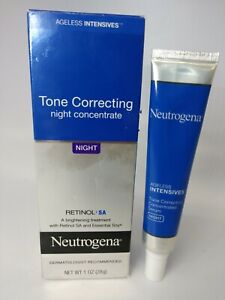 Neutrogena Ageless Intensives Tone Correcting Serum Night 1oz free shipping