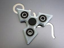 SILVER SHURIKEN NINJA STAR KNIFE FIDGET TOY SPINNER NON-TOXIC PLASTIC MADE IN US