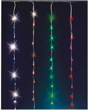 Waterfall Curtain Christmas Lights , Multi Colour 240 LED Bulbs Xmas Decoration