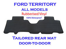 Tailored One-Piece REAR Floor Mat To suit SX SY SZ FORD Territory Rubber Vinyl