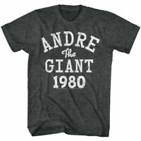 Andre The Giant T-Shirt Mens New 1980 WWF Wrestler Black Heather SM - 5XL